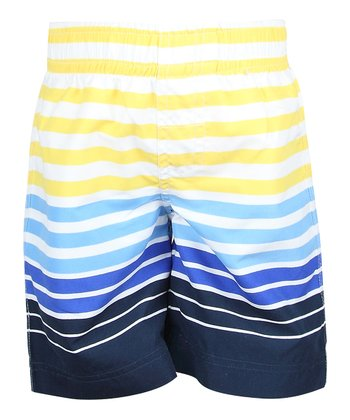 Pineapple Stripe Swim Trunks - Infant, Toddler & Boys