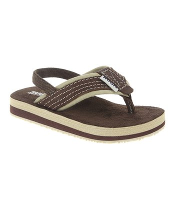Brown Back Strap Flip-Flop