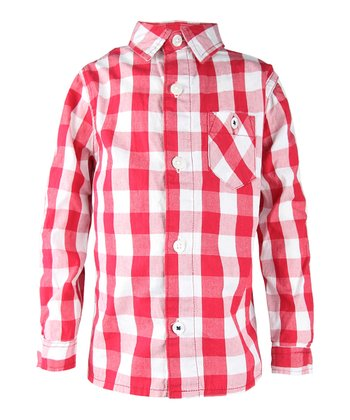 Ketchup Plaid Button-Up - Infant, Toddler & Boys