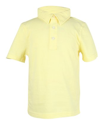 Sun-Bleached Yellow Polo - Infant, Toddler & Boys
