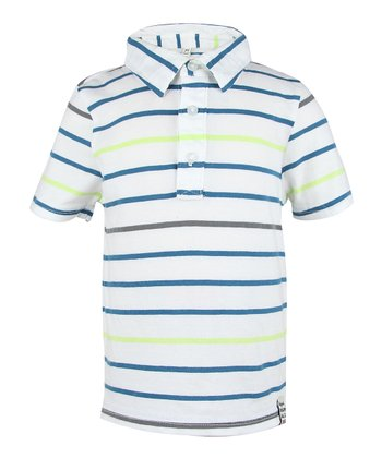 Teal Petal Stripe Polo - Infant, Toddler & Boys