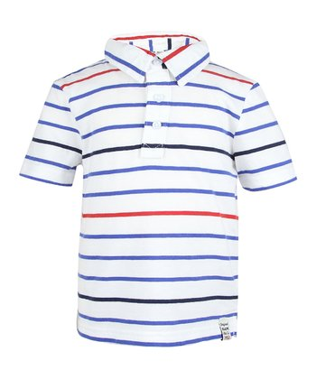 Dark Royal Stripe Polo - Infant & Toddler