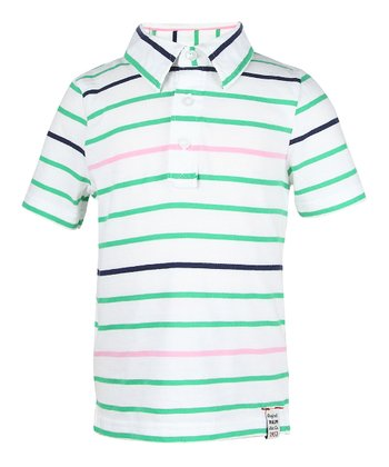 Green Crush Stripe Polo - Infant, Toddler & Boys