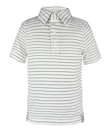 Chic Cream Stripe Polo - Toddler