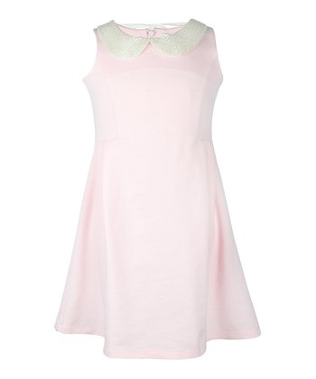 Pink Icing Beaded Dress - Girls