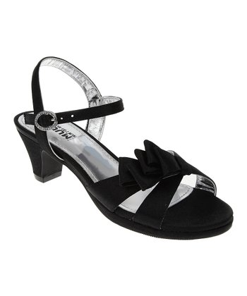 Black Satin Bow Dress Sandal