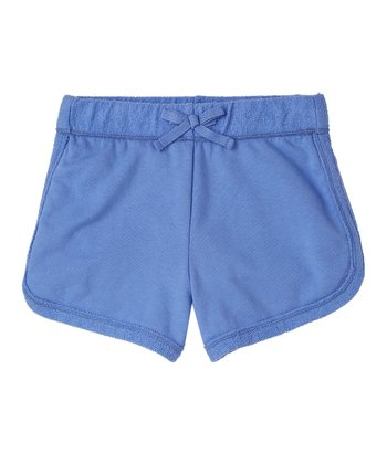 Periwinkle Blue Knit Shorts - Girls