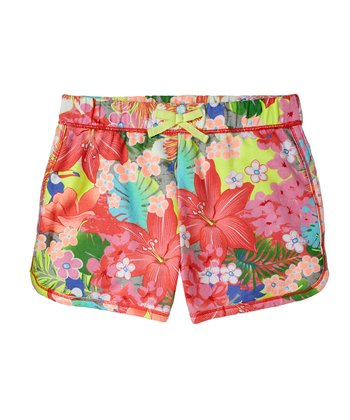 Pink Floral Shorts - Girls