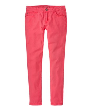 Neon Rose Skinny Pants - Girls