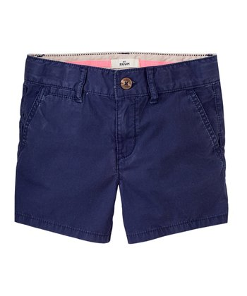 Indigo Bottle Shorts - Girls