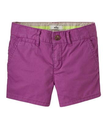 Magenta Purple Shorts - Girls