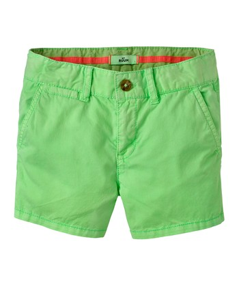 Neon Lime Shorts - Girls