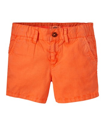 Neon Orange Shorts - Girls