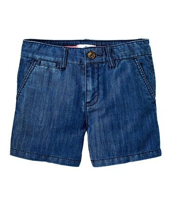 Laurel Wash Denim Shorts - Girls