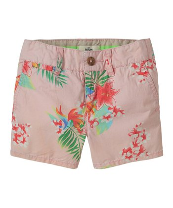 Pink Icing Floral Shorts - Girls