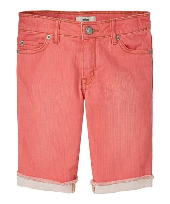 Guava Jam Denim Bermuda Shorts - Girls