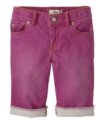Magenta Purple	Denim Bermuda Shorts - Girls