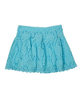 Aquamarine Lace Skirt - Girls