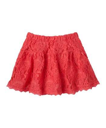 Guava Jam Lace Skirt - Girls
