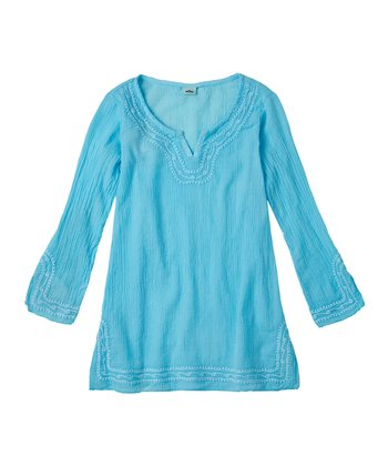 Bluefish Embroidered Cover-Up - Girls