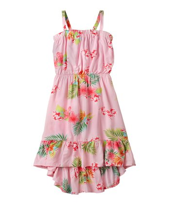 Pink Icing Floral Dress - Girls