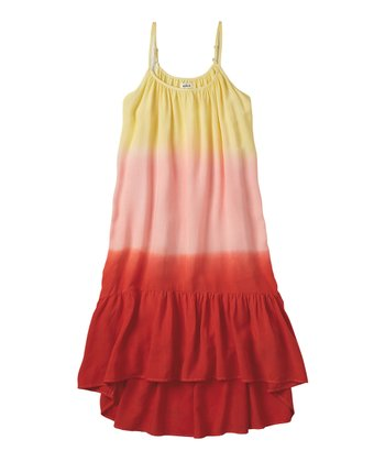 Tangerine Dip-Dyed Dress - Girls
