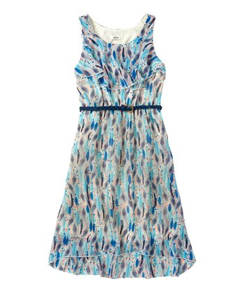 Vanilla Feather Chiffon Dress - Girls