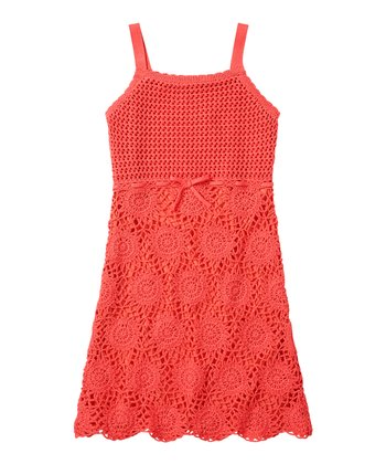 Guava Jam Crocheted Dress - Girls
