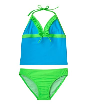 Bluefish Color Block Tankini - Girls