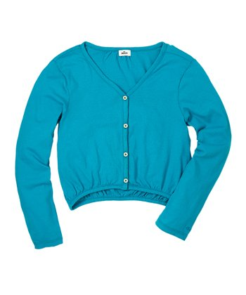 Bay Blue Cardigan - Girls