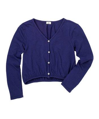 Indigo Bottle Cardigan - Girls