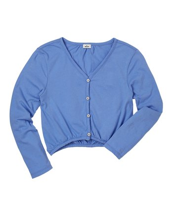 Periwinkle Blue Cardigan - Girls