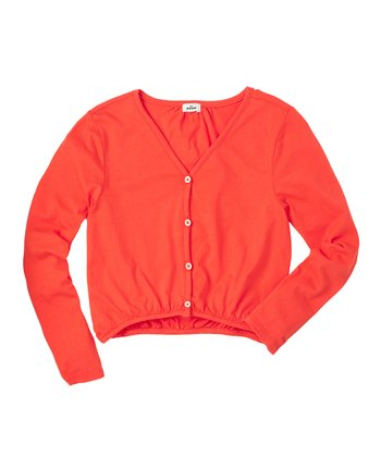 Tangerine Cardigan - Girls