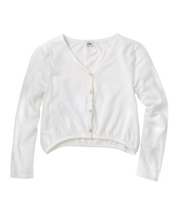 White Cardigan - Infant, Toddler & Girls