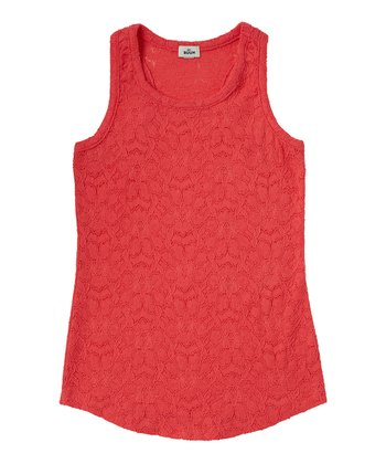 Guava Jam Lace Tank - Girls