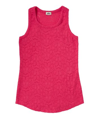 Raspberry Lace Tank - Girls