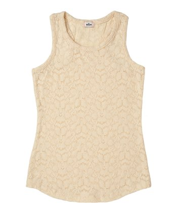 Vanilla Lace Tank - Girls