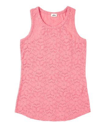 Vintage Rose Lace Tank - Girls