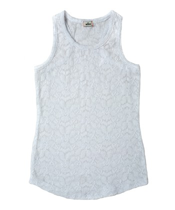 White Lace Tank - Girls