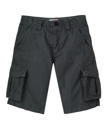 Iron Gray Ripstop Cargo Shorts - Boys
