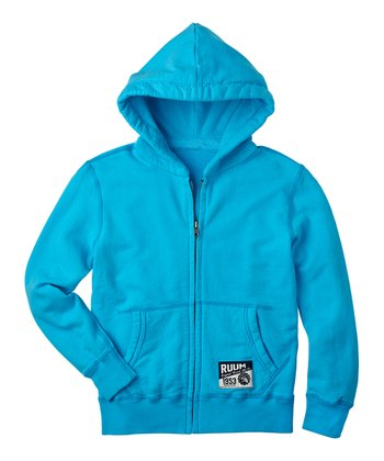 Azure Blue Fleece Zip-Up Hoodie - Boys