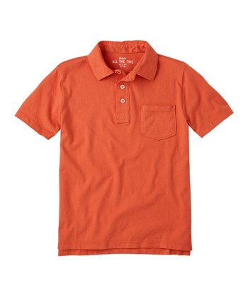 Washed Orange	 Polo - Boys