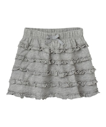Heather Gray Ruffle Skirt - Infant & Toddler