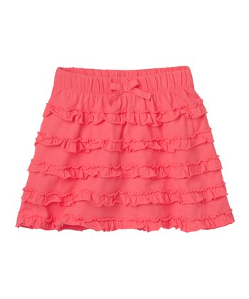 Neon Rose Ruffle Skirt - Infant, Toddler & Girls