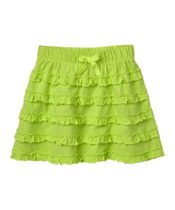 Neon Yellow Ruffle Skirt - Infant & Toddler