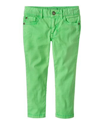 Neon Lime Straight Pants - Infant & Toddler