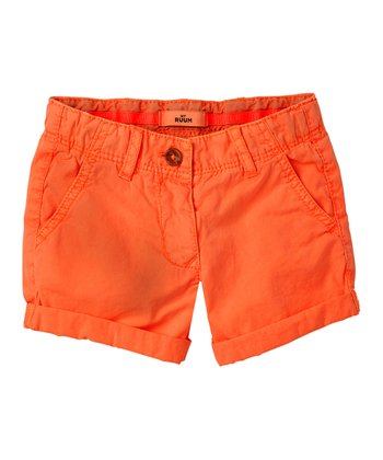 Neon Orange Shorts - Infant, Toddler & Girls