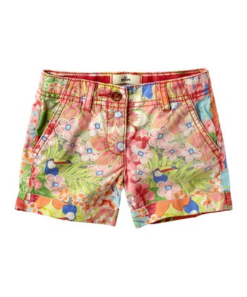 Guava Jam Floral Shorts - Infant, Toddler & Girls
