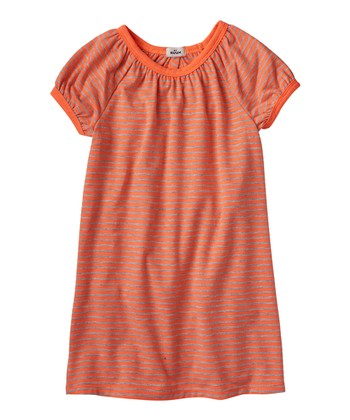 Neon Orange Ruffle Back Dress - Infant & Toddler