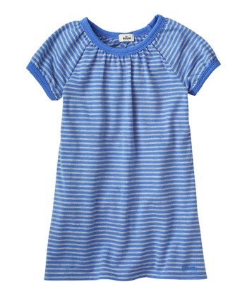 Periwinkle Blue Ruffle Back Dress - Infant & Toddler